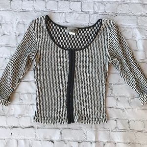 Luly K Vintage Cropped Blouse